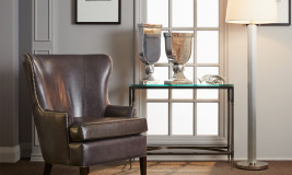 leather Prince edward chair
