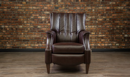 leather chairs library chair