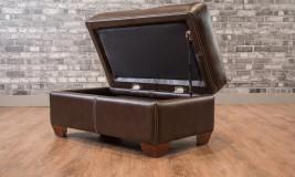 leather rectangular Storage ottoman