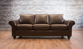 Leather Sofa transitional style