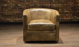 leather chair tub close