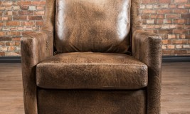 Leather chairs parlour