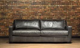 loft leather sofa in scarlett fog