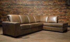 leather sofa Canadiana Straight Arm