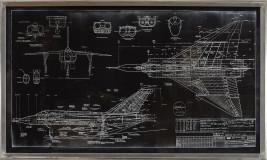 BLUEPRINT - AVRO ARROW - BLACK #14932 Size: 24X43.5 CEL-ements Studio