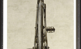 antiqued bike straight on 2