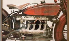 Vintage Harley photo Colour