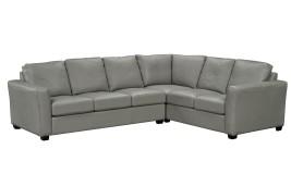 aspen II leather sectional