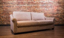 Hampton Platinum Collection Leather Loveseat