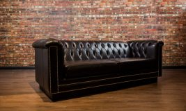 Davinci Tuft, Leather Sofa, Loveseat