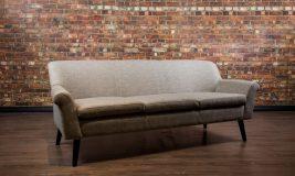 Mad men leather sofa