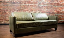 Avelon condo leather sofa, loveseat