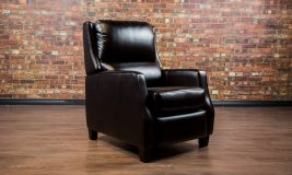 leather reclining chair country club