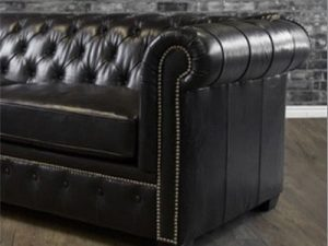 Brown Custom Leather Sofa